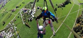 Drachenfliegen Schweiz ohne Sicherung