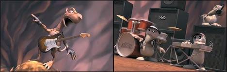tale of rock, computer animation, cartoon, drache, gitarre