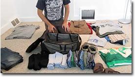 tasche packen, koffer