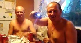 Taser betrunkene Russen
