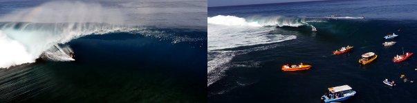 Teahupo'o, Du Ciel Surfen
