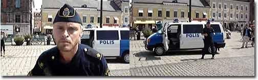 schweden, polizist, cop, techno, tanzen