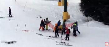 Skilift Junge Rettung