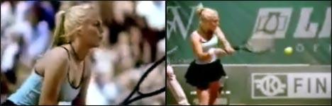 Frauen, Tennis, stöhnen