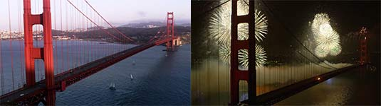 dubstep, feruerwerk, golden gate bridge