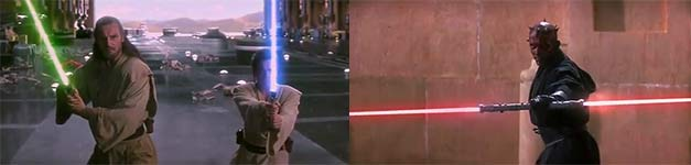 Lichtschwert Unterricht, Starwars