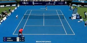 Tennis Matchball Aufschlag