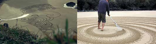 Strand, Kreise, malen