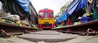 Zug Markt Thailand