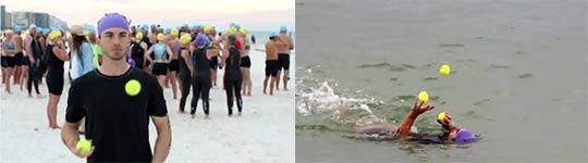 Joe Salter - Triathlon Jonglier-Weltrekord