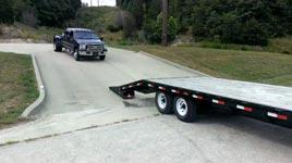 truck, trailer, fail
