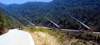 Windkraftanlage Rotorblätter Schwertransport