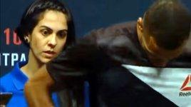 UFC Wiegen große Augen