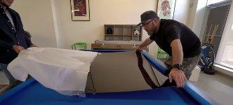 Unboxing LG OLED65W7V Wallpaper TV
