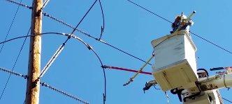 Strom Mast Arbeiter