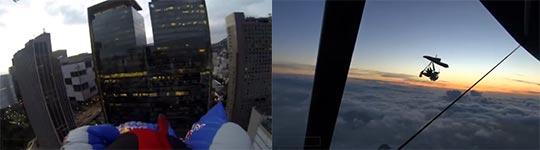Wingsuit durch Rio de Janeiro