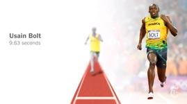 Usain Bolt London 2012 Olympics Final vs every 100m medalist