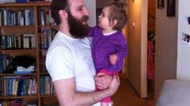Vollbart, Vater, Kind, rasieren