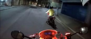 Verfolgungsjagd Motorrad
