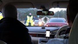 Verkehrskontrolle mit Alkoholtest