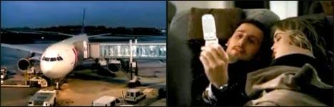 Vodafone, MMS, Werbung, Flugzeug
