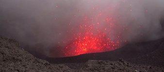 Vulkan Lava knapp