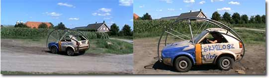 VW Roll-Golf, Überschlag