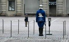 Wachablösung, Kind, Royal Palace, Stockholm, Schweden