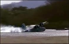 wasserflugzeug, landung, crash