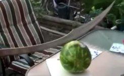 Wassermelone Schwert