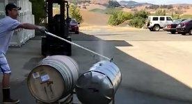 Wein Fass Gärung Geysir