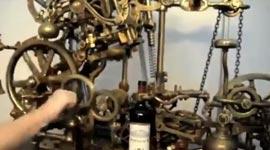 Weinflasche, Maschine, Korken, öffnen