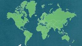 Weltkarte Kontinente Länder Größen