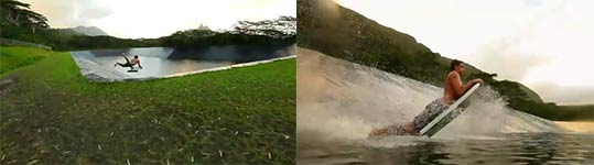 Worlds widest slip and slide