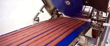 High-Speed Wurstscheiben schneiden