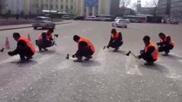 zebrastreifen entfernen in russland