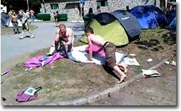 zelt, festival, aubauen, rausch, drogen, alkohol