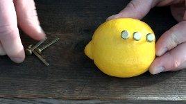 Zitrone Feuer Experiment