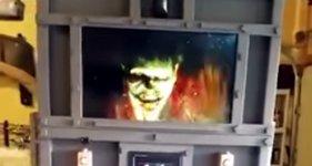Tobende Zombie-Quarantäne-Kammer