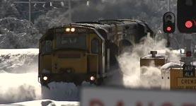 Zug, Eisenbahn, Schnee, Eis