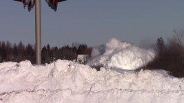 Zug Eisenbahn Schranke Schnee